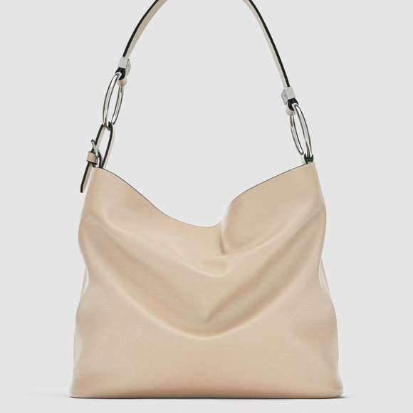 e883a3648325 Zara NWT sand colored bucket bag with ring detail